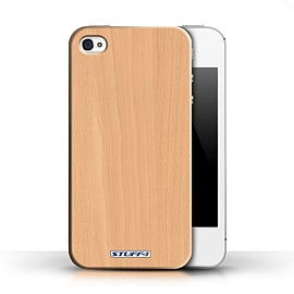STUFF4 Phone Case/Cover for Apple iPhone 4/4S/Beech Design/Wood Grain Effect/Pattern Collection Mobile phones