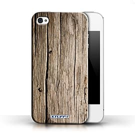 STUFF4 Phone Case/Cover for Apple iPhone 4/4S/Driftwood Design/Wood Grain Effect/Pattern Collection Mobile phones