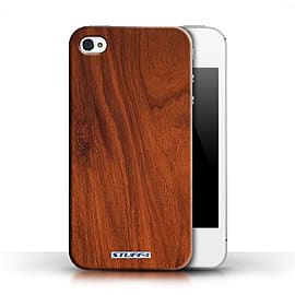 STUFF4 Phone Case/Cover for Apple iPhone 4/4S/Mahogany Design/Wood Grain Effect/Pattern Collection Mobile phones