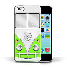 STUFF4 Phone Case/Cover for Apple iPhone 5C/Green Design/VW Camper Van Collection Mobile phones