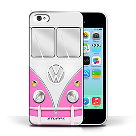 STUFF4 Phone Case/Cover for Apple iPhone 5C/Pink Design/VW Camper Van Collection Mobile phones