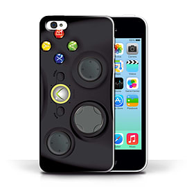 STUFF4 Phone Case/Cover for Apple iPhone 5C/Black Xbox 360 Design/Games Console Collection Mobile phones