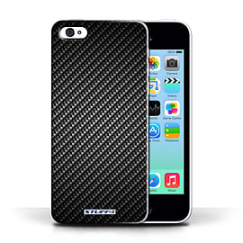 STUFF4 Phone Case/Cover for Apple iPhone 5C/Grey Design/Carbon Fibre Effect/Pattern Collection Mobile phones