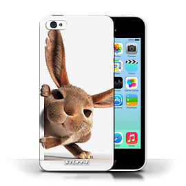 STUFF4 Phone Case/Cover for Apple iPhone 5C/Peeking Bunny Design/Funny Animals Collection Mobile phones