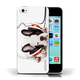 STUFF4 Phone Case/Cover for Apple iPhone 5C/Snooze Headphone Dog Design/Funny Animals Collection Mobile phones