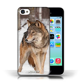STUFF4 Phone Case/Cover for Apple iPhone 5C/Wolf Design/Wildlife Animals Collection Mobile phones