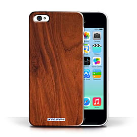 STUFF4 Phone Case/Cover for Apple iPhone 5C/Mahogany Design/Wood Grain Effect/Pattern Collection Mobile phones