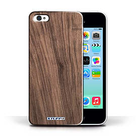 STUFF4 Phone Case/Cover for Apple iPhone 5C/Walnut Design/Wood Grain Effect/Pattern Collection Mobile phones
