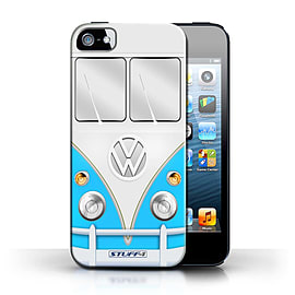STUFF4 Phone Case/Cover for Apple iPhone 5/5S/Blue Design/VW Camper Van Collection Mobile phones