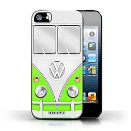 STUFF4 Phone Case/Cover for Apple iPhone 5/5S/Green Design/VW Camper Van Collection Mobile phones
