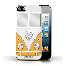 STUFF4 Phone Case/Cover for Apple iPhone 5/5S/Orange Design/VW Camper Van Collection Mobile phones