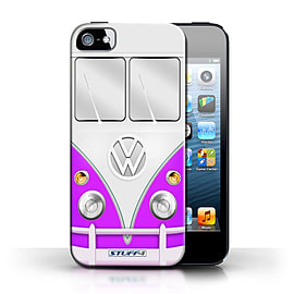STUFF4 Phone Case/Cover for Apple iPhone 5/5S/Purple Design/VW Camper Van Collection Mobile phones