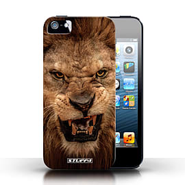 STUFF4 Phone Case/Cover for Apple iPhone 5/5S/Lion Design/Wildlife Animals Collection Mobile phones