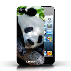STUFF4 Phone Case/Cover for Apple iPhone 5/5S/Panda Bear Design/Wildlife Animals Collection Mobile phones
