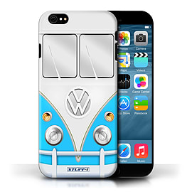 STUFF4 Phone Case/Cover for Apple iPhone 6/Blue Design/VW Camper Van Collection Mobile phones