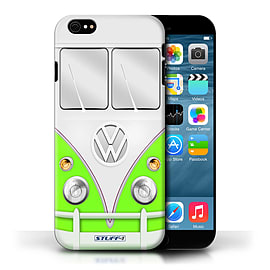 STUFF4 Phone Case/Cover for Apple iPhone 6/Green Design/VW Camper Van Collection Mobile phones