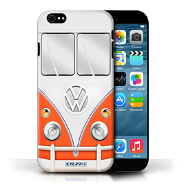 STUFF4 Phone Case/Cover for Apple iPhone 6/Red Design/VW Camper Van Collection Mobile phones