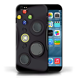 STUFF4 Phone Case/Cover for Apple iPhone 6/Black Xbox 360 Design/Games Console Collection Mobile phones