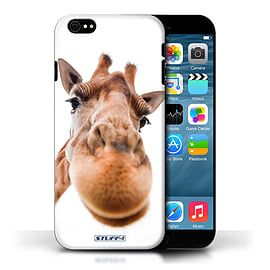 STUFF4 Phone Case/Cover for Apple iPhone 6/Closeup Giraffe Design/Funny Animals Collection Mobile phones