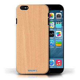 STUFF4 Phone Case/Cover for Apple iPhone 6/Beech Design/Wood Grain Effect/Pattern Collection Mobile phones