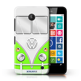 STUFF4 Phone Case/Cover for Nokia Lumia 635/Green Design/VW Camper Van Collection Mobile phones