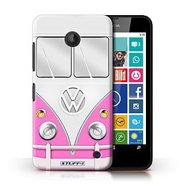 STUFF4 Phone Case/Cover for Nokia Lumia 635/Pink Design/VW Camper Van Collection Mobile phones
