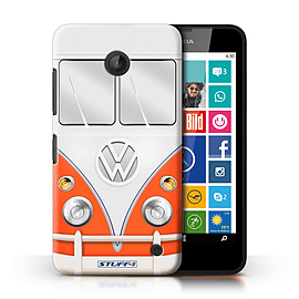 STUFF4 Phone Case/Cover for Nokia Lumia 635/Red Design/VW Camper Van Collection Mobile phones