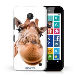 STUFF4 Phone Case/Cover for Nokia Lumia 635/Closeup Giraffe Design/Funny Animals Collection Mobile phones
