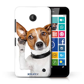 STUFF4 Phone Case/Cover for Nokia Lumia 635/Listening Dog Design/Funny Animals Collection Mobile phones
