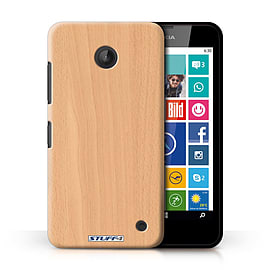 STUFF4 Phone Case/Cover for Nokia Lumia 635/Beech Design/Wood Grain Effect/Pattern Collection Mobile phones