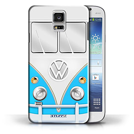 STUFF4 Phone Case/Cover for Samsung Galaxy S5/SV/Blue Design/VW Camper Van Collection Mobile phones