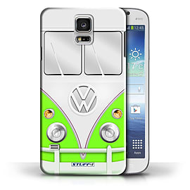 STUFF4 Phone Case/Cover for Samsung Galaxy S5/SV/Green Design/VW Camper Van Collection Mobile phones