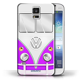 STUFF4 Phone Case/Cover for Samsung Galaxy S5/SV/Purple Design/VW Camper Van Collection Mobile phones