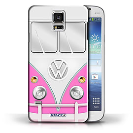 STUFF4 Phone Case/Cover for Samsung Galaxy S5/SV/Pink Design/VW Camper Van Collection Mobile phones
