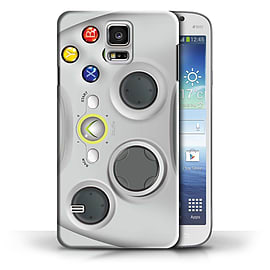 STUFF4 Phone Case/Cover for Samsung Galaxy S5/SV/White Xbox 360 Design/Games Console Collection Mobile phones
