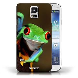 STUFF4 Phone Case/Cover for Samsung Galaxy S5/SV/Frog Design/Wildlife Animals Collection Mobile phones