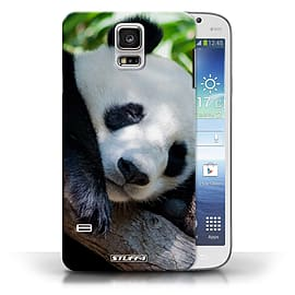 STUFF4 Phone Case/Cover for Samsung Galaxy S5/SV/Panda Bear Design/Wildlife Animals Collection Mobile phones