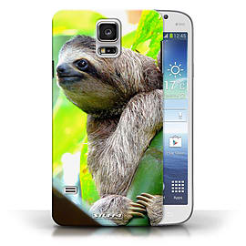 STUFF4 Phone Case/Cover for Samsung Galaxy S5/SV/Sloth Design/Wildlife Animals Collection Mobile phones