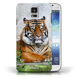 STUFF4 Phone Case/Cover for Samsung Galaxy S5/SV/Tiger Design/Wildlife Animals Collection Mobile phones