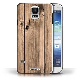 STUFF4 Phone Case/Cover for Samsung Galaxy S5/SV/Plank Design/Wood Grain Effect/Pattern Collection Mobile phones