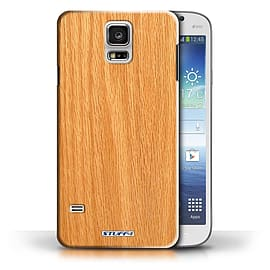 STUFF4 Phone Case/Cover for Samsung Galaxy S5/SV/Pine Design/Wood Grain Effect/Pattern Collection Mobile phones