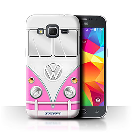STUFF4 Phone Case/Cover for Samsung Galaxy Core Prime/Pink Design/VW Camper Van Collection Mobile phones