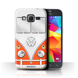 STUFF4 Phone Case/Cover for Samsung Galaxy Core Prime/Red Design/VW Camper Van Collection Mobile phones