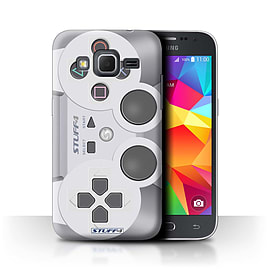 STUFF4 Phone Case/Cover for Samsung Galaxy Core Prime/Playstation PS1 Design/Games Console Mobile phones