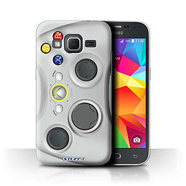 STUFF4 Phone Case/Cover for Samsung Galaxy Core Prime/White Xbox 360 Design/Games Console Collection Mobile phones