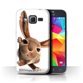 STUFF4 Phone Case/Cover for Samsung Galaxy Core Prime/Peeking Bunny Design/Funny Animals Collection Mobile phones