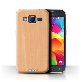 STUFF4 Phone Case/Cover for Samsung Galaxy Core Prime/Beech Design/Wood Grain Effect/Pattern Mobile phones