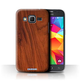 STUFF4 Phone Case/Cover for Samsung Galaxy Core Prime/Mahogany Design/Wood Grain Effect/Pattern Mobile phones