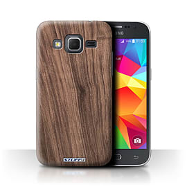 STUFF4 Phone Case/Cover for Samsung Galaxy Core Prime/Walnut Design/Wood Grain Effect/Pattern Mobile phones