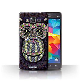 STUFF4 Phone Case/Cover for Samsung Galaxy Grand Prime/Monkey-Colour Design/Aztec Animal Design Mobile phones